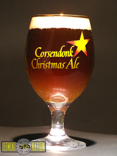 Corsendonk Christmas Ale in glass