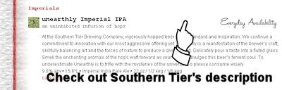 Southern Tier Beer Descriptions