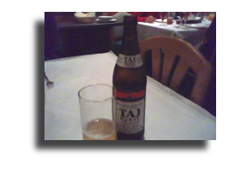 Taj mahal beer label