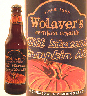 Wolaver's Certified Organic Will Stevens Pumpkin Ale